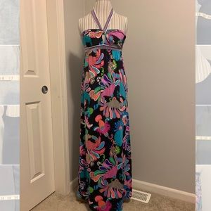 Trina Turk Tie Halter Dress